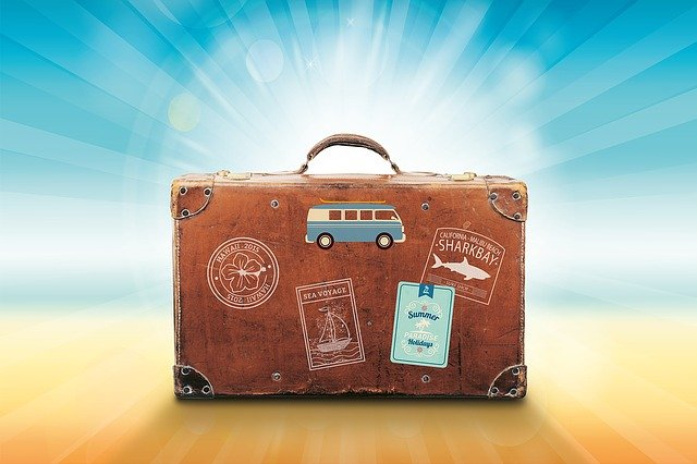 brauner Reisekoffer